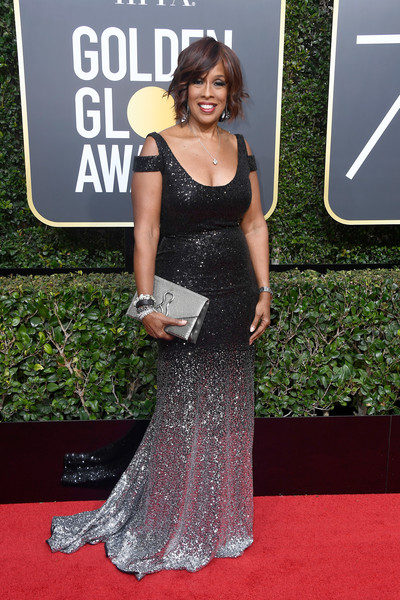 Gayle King attends The 75th Annual Golden Globe Awards at The Beverly Hilton Hotel on January 7, 2018 in Beverly Hills, California.