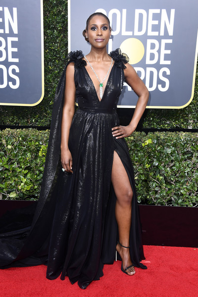 Issa Rae attends The 75th Annual Golden Globe Awards at The Beverly Hilton Hotel on January 7, 2018 in Beverly Hills, California.