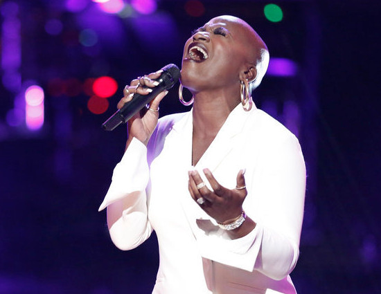 Janice Freeman performs during the playoffs for The Voice Season 13. (NBC Photo)