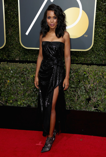 Kerry Washington attends The 75th Annual Golden Globe Awards at The Beverly Hilton Hotel on January 7, 2018 in Beverly Hills, California.