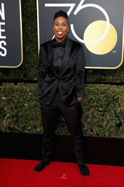 Lena Waithe attends The 75th Annual Golden Globe Awards at The Beverly Hilton Hotel on January 7, 2018 in Beverly Hills, California.