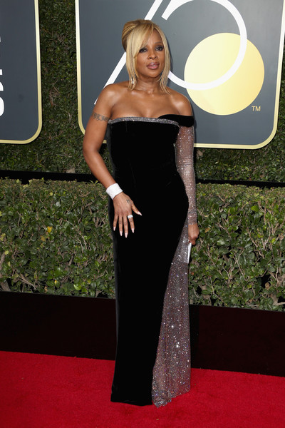 Mary J Blige attends The 75th Annual Golden Globe Awards at The Beverly Hilton Hotel on January 7, 2018 in Beverly Hills, California.
