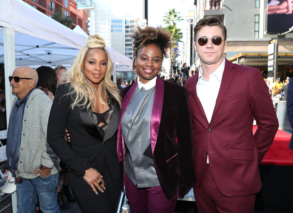 (L-R) Mary J. Blige, Dee Rees and Garrett Hedlund attend the ceremony honoring Mary J. Blige with a Star on The Hollywood Walk of Fame on January 11, 2018 in Hollywood, California.
