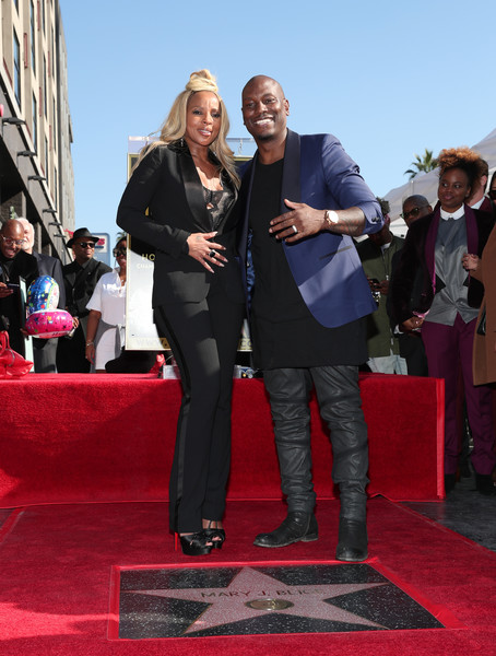 Mary J. Blige (L) and Tyrese Gibson attend the ceremony honoring Mary J. Blige with a Star on The Hollywood Walk of Fame on The Hollywood Walk of Fame on January 11, 2018 in Hollywood, California.