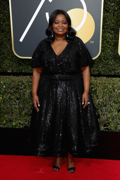 Octavia Spencer attends The 75th Annual Golden Globe Awards at The Beverly Hilton Hotel on January 7, 2018 in Beverly Hills, California.