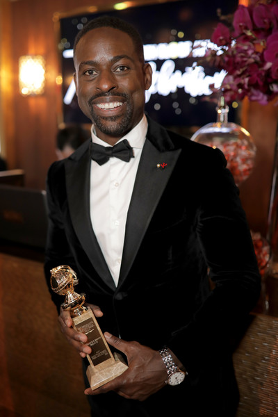 Actor Sterling K. Brown, winner of the award for Best Performance by an Actor in a Television Series (Drama) for 'This Is Us,' attends the Official Viewing and After Party of The Golden Globe Awards bosted by The Hollywood Foreign Press Association on January 7, 2018 in Beverly Hills, California.