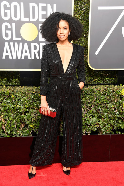 Susan Kelechi Watson attends The 75th Annual Golden Globe Awards at The Beverly Hilton Hotel on January 7, 2018 in Beverly Hills, California.