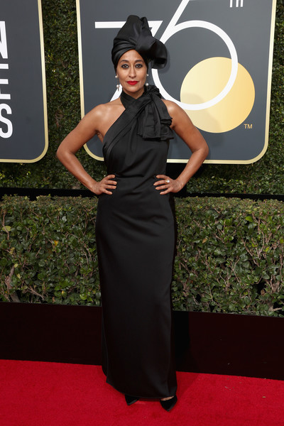Tracee Ellis Ross attends The 75th Annual Golden Globe Awards at The Beverly Hilton Hotel on January 7, 2018 in Beverly Hills, California.