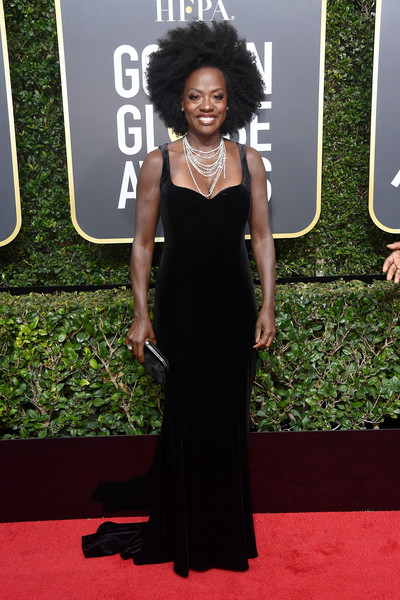 Viola Davis attends The 75th Annual Golden Globe Awards at The Beverly Hilton Hotel on January 7, 2018 in Beverly Hills, California.