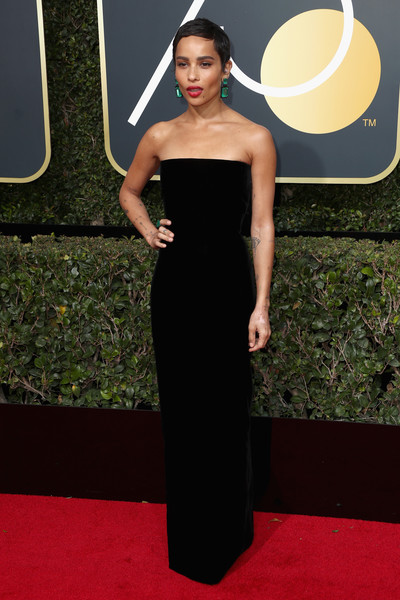 Zoe Kravitz attends The 75th Annual Golden Globe Awards at The Beverly Hilton Hotel on January 7, 2018 in Beverly Hills, California.