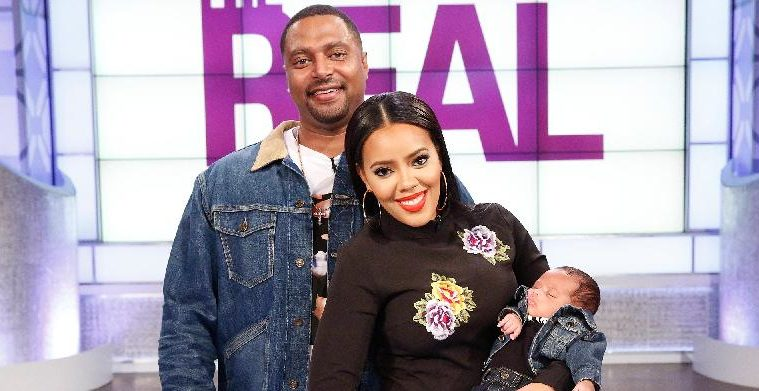 angela simmons & sutton tennyson & baby - the real