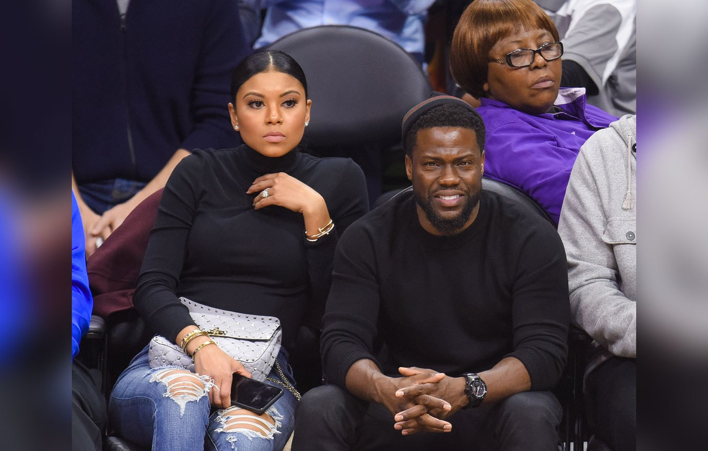 Eniko Parrish and Kevin Hart (Getty Images)