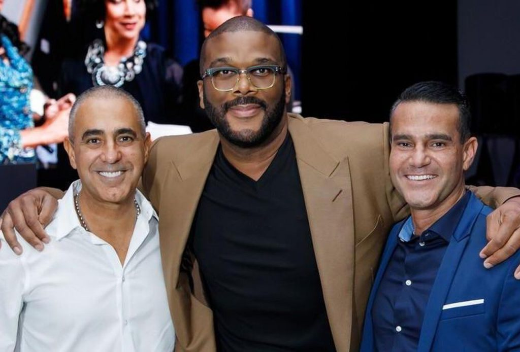 Tyler Perry with the Areu Brothers