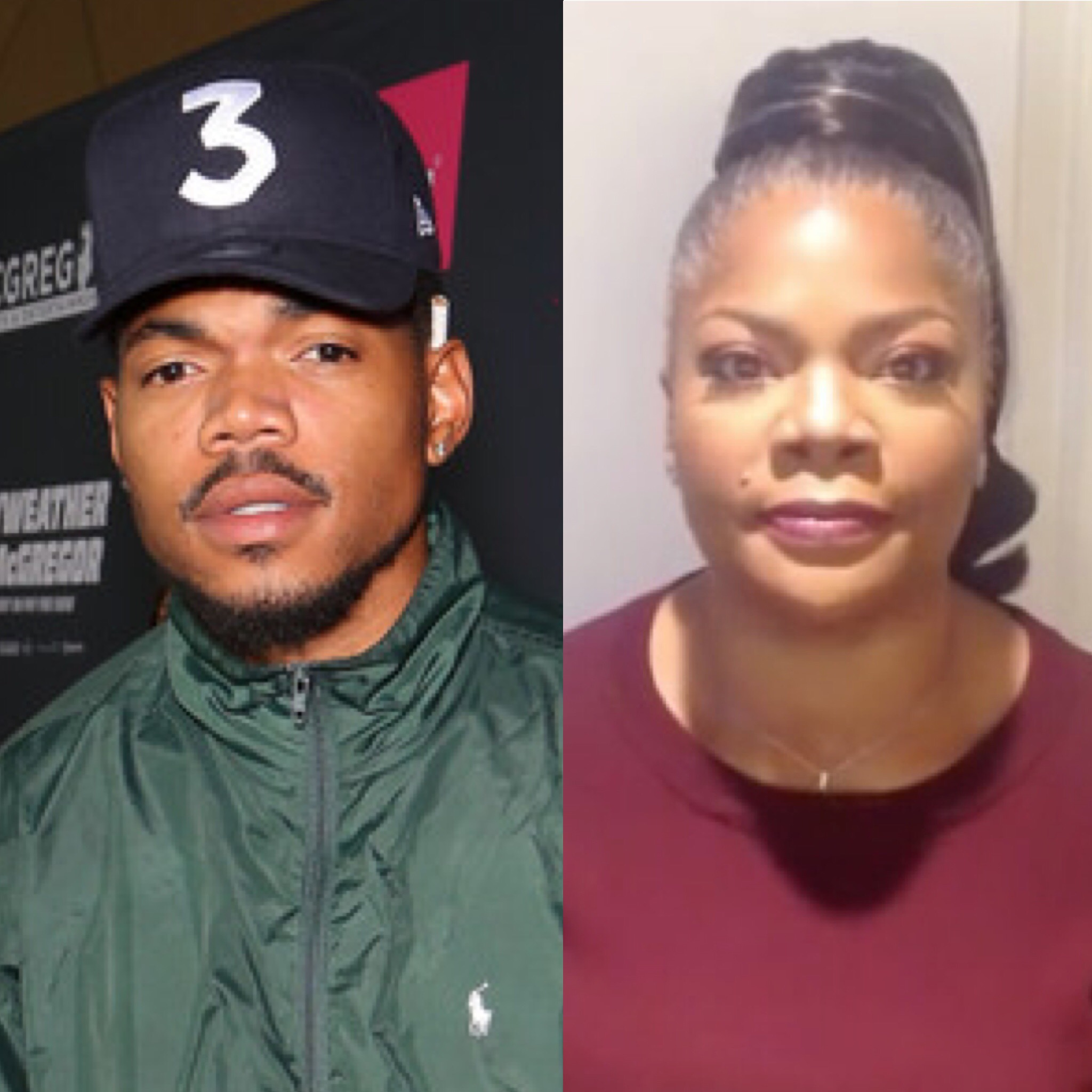 Chance The Rapper stands