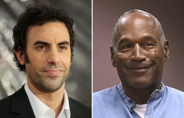 Is Sacha Baron Cohen working on a film with OJ Simpson?