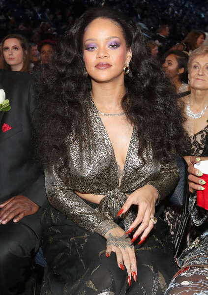 Recording artist Rihanna attends the 60th Annual GRAMMY Awards at Madison Square Garden on January 28, 2018 in New York City.