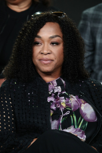Executive producers Shonda Rhimes of the television show For The People speaks onstage during the ABC Television/Disney portion of the 2018 Winter Television Critics Association Press Tour at The Langham Huntington, Pasadena on January 8, 2018 in Pasadena, California.