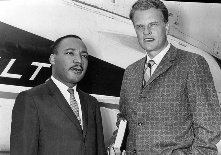 Rev. Martin Luther King and Rev. Billy Graham