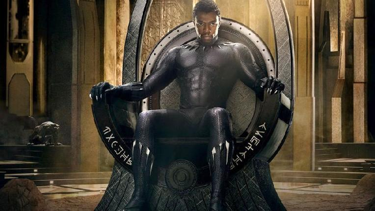 black panther - king t'challa on throne