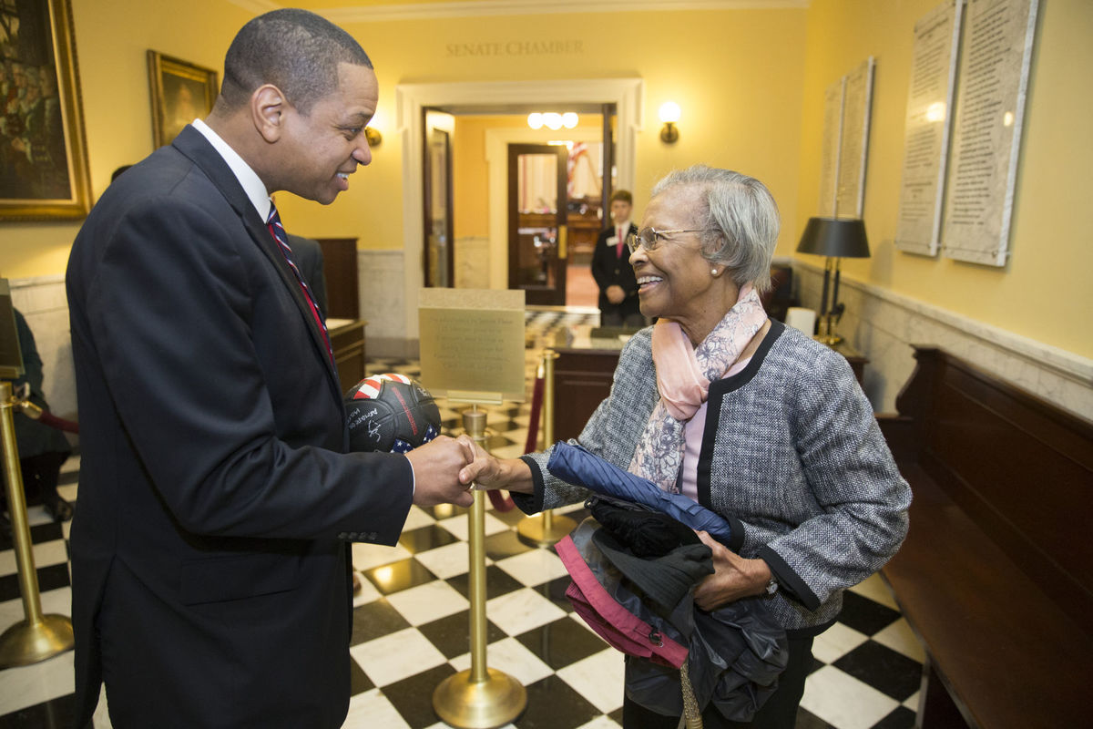 gladys west - Lt. Gov of Virginia Justin Fairfax and Dr. Gladys West reconnecting, after she was honored by the state for her contributions to the GPS.