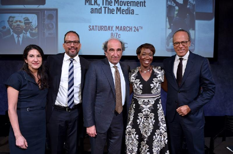 mlk the movement the media - Rachel Dretzin, Phil Bertelsen, Joy Reid, Andy Lack, Lester Holt