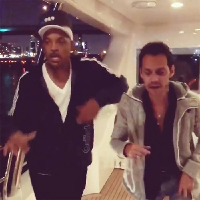 Will Smith and Marc Anthony cut a rug (Instagram)