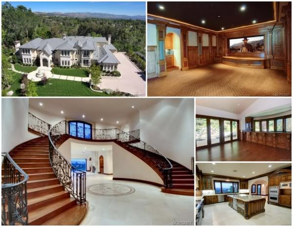 Interior of mansion owned by Vincent Herbert and Tamar Braxton is located at 25400 Prado De La Felicidad in Calabasas, California and is situated on 2 acres of land.