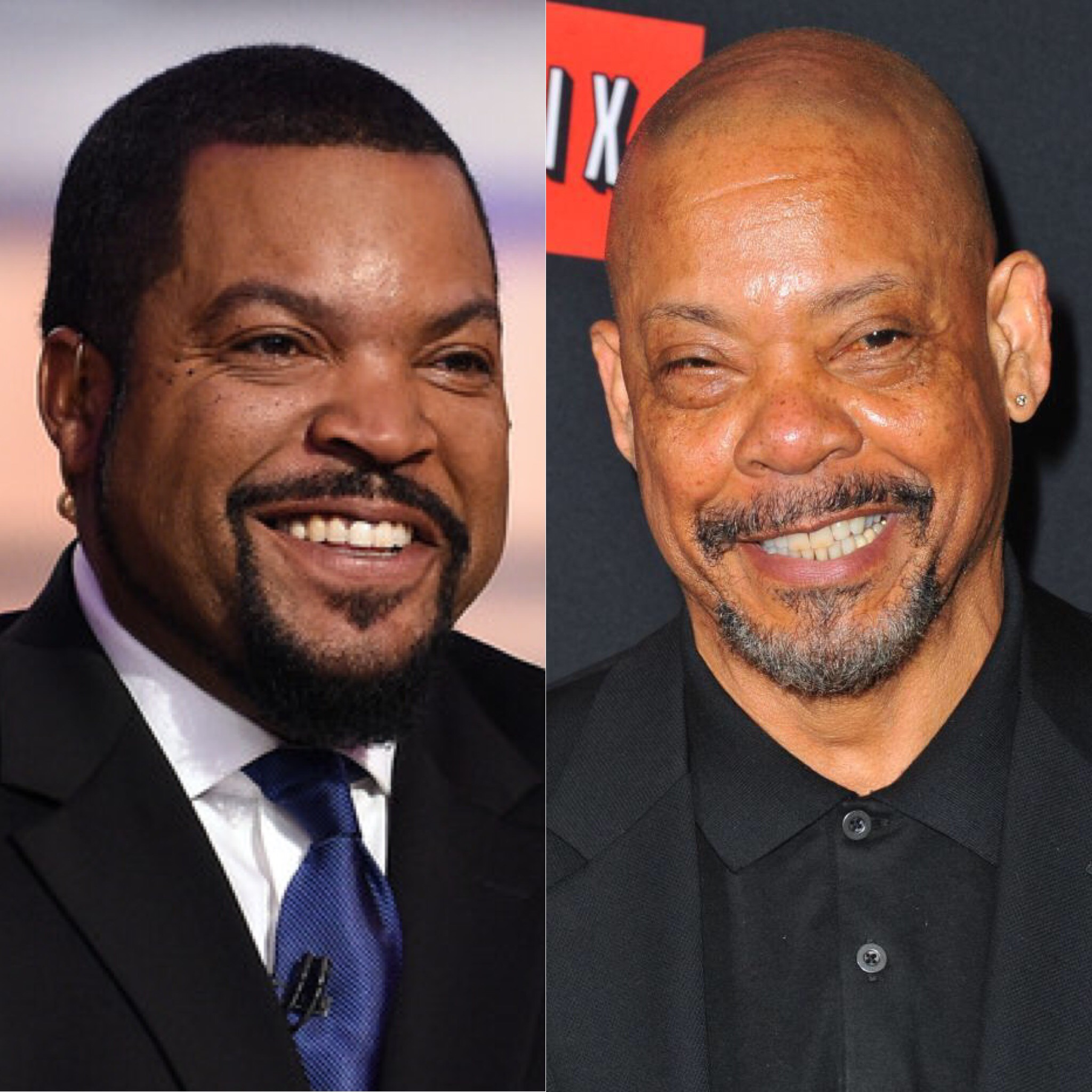 Ice Cube (L) and Carl Franklin