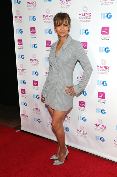 Halle Berry attends the 2018 Matrix Awards at Sheraton Times Square on April 23, 2018 in New York City.