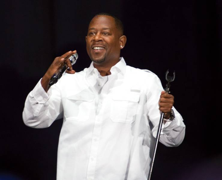 martin lawrence on stage