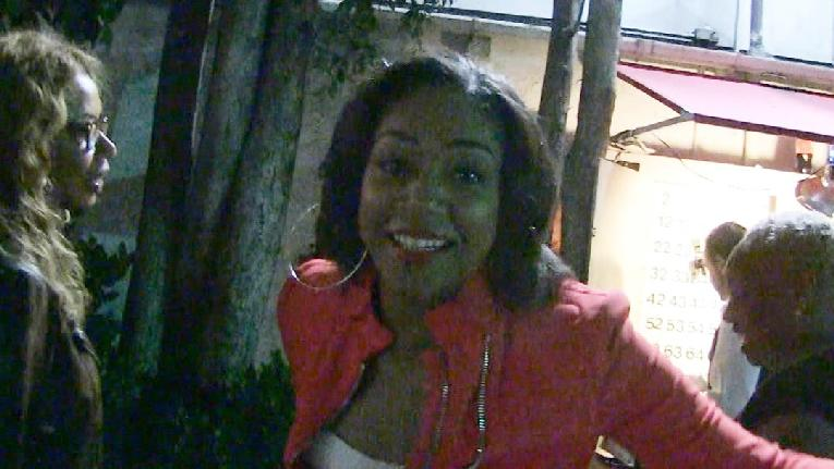 tiffany haddish - screenshot - coming out of restaurant