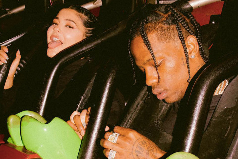 Kylie Jenner and Travis Scott (Snapchat)