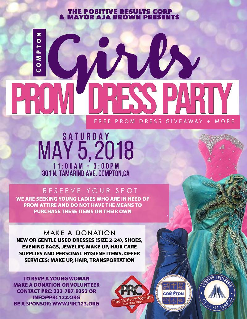 The 2nd Compton Prom Dress Give Away Happens Saturday May 4 Eurweb