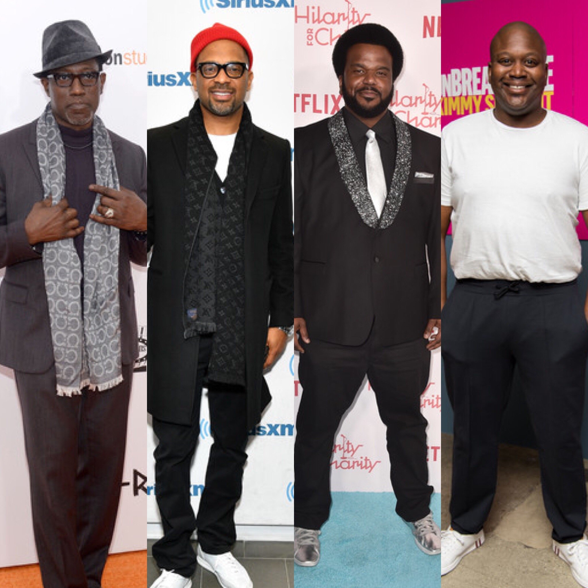 (L-R): Wesley Snipes, Mike Epps, Craig Robinson and Tituss Burgess (Getty Images)