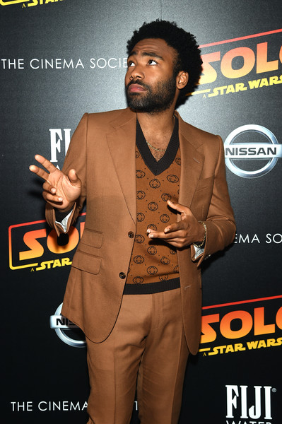 """Donald Glover attends """"Solo: A Star Wars Story"""" New York Premiere on May 21, 2018 in New York City."""