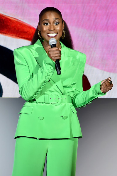 Issa Rae speaks onstage during the 2018 CFDA Fashion Awards at Brooklyn Museum on June 4, 2018 in New York City.
