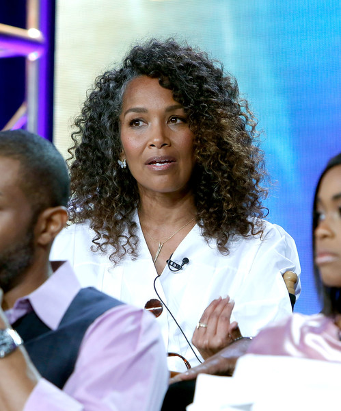 "Executive Producer Mara Brock Akil of the television show ""Black Lightning"" speaks on stage during the CW portion of the 2018 Winter Television Critics Association Press Tour at The Langham Huntington, Pasadena on January 7, 2018 in Pasadena, California."