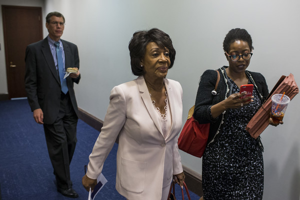 Rep. Maxine Waters (D-CA) is pictured on Capitol Hill June 27, 2018 in Washington, DC.