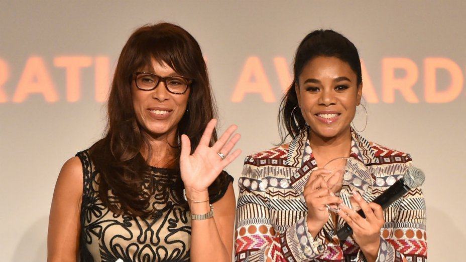 ABC Entertainment president Channing Dungey (left) and actress Regina Hall (Alberto E. Rodriguez/Getty Images)