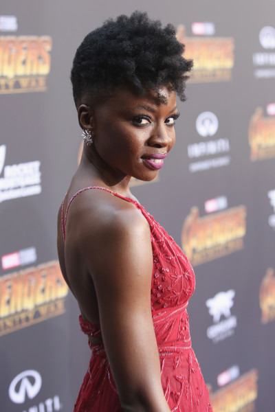 Actor Danai Gurira attends the Los Angeles Global Premiere for Marvel Studios? Avengers: Infinity War on April 23, 2018 in Hollywood, California.
