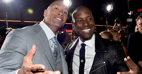 dwayne johnson, tyrese