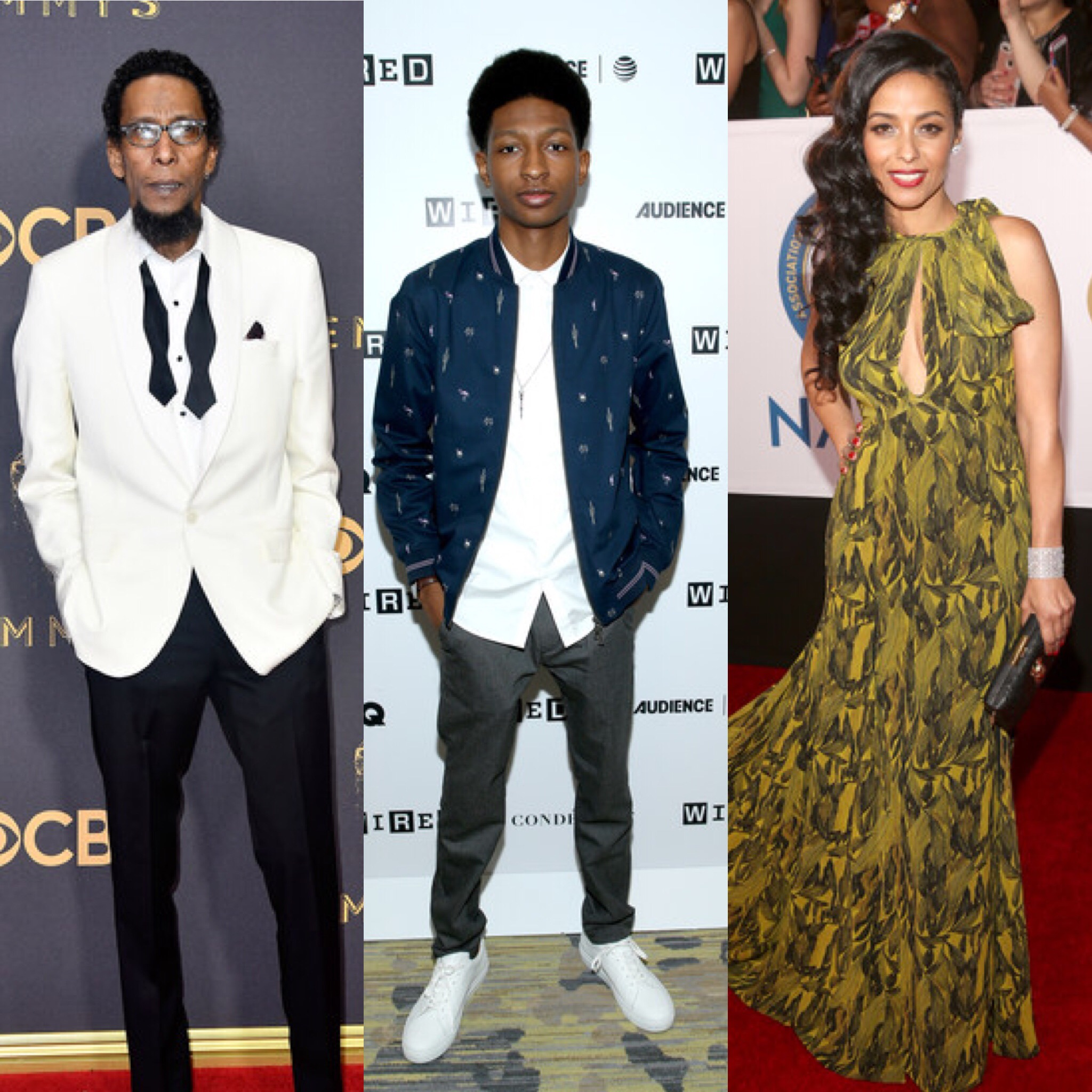 (L-R) Ron Cephas Jones, Skylan Brooks and Meta Golding (Getty Images)