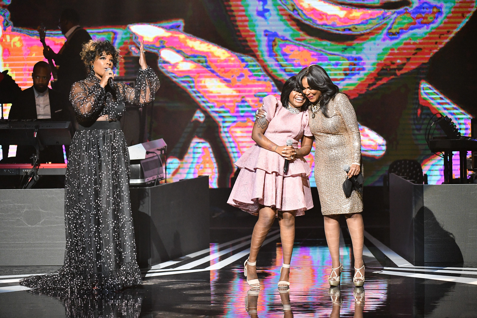Syleena Johnson, Paris Bennett and Angela Winbush at the 3rd Annual Black Music Honors at the Tennessee Performing Arts Center on Thursday, August 16th, 2018 (AP Photo/Earl Gibson III)