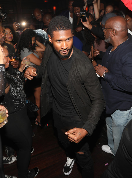 Usher dances with guests during The 8th Annual Mark Pitts & Bystorm Ent Post BET Awards Party on June 24, 2018 in Los Angeles, California.