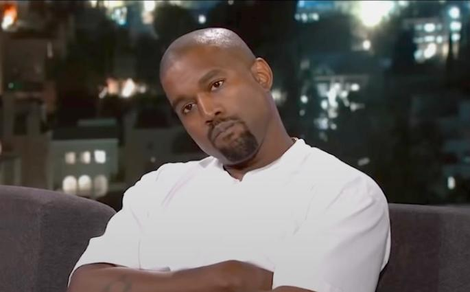 kanye west - thinking about jimmy kimmel's trump question