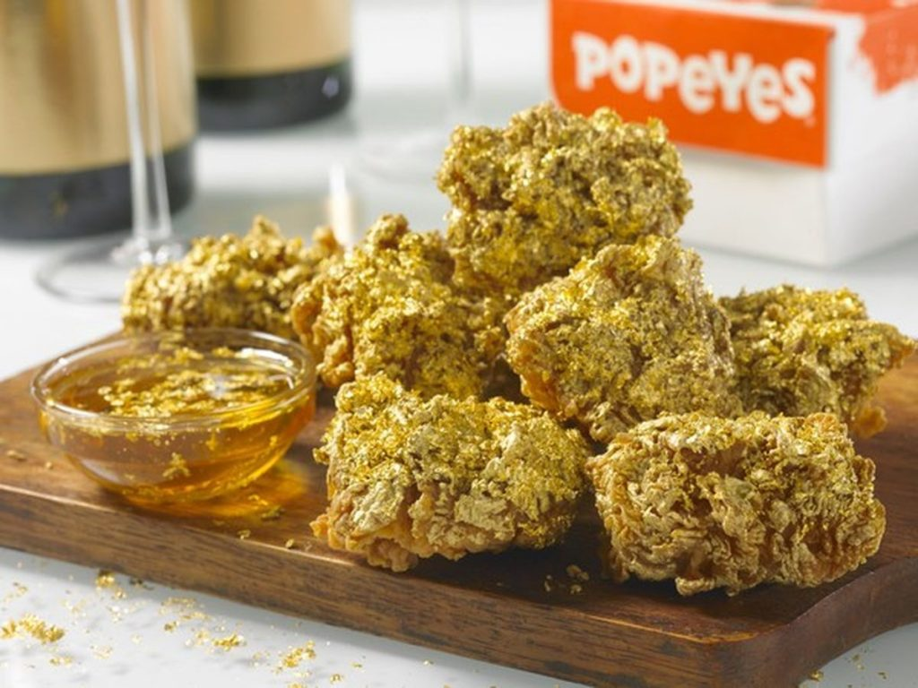 Popeyes Dipped in Champagne