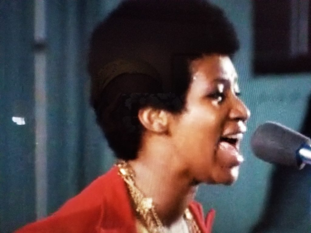 """Aretha Franklin in 1972's """"Amazing Grace."""""""