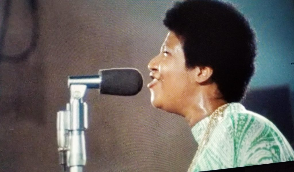 """Aretha Franklin in a moment from """"Amazing Grace."""""""