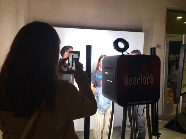 """official """"Overlord"""" movie screening photo booth"""