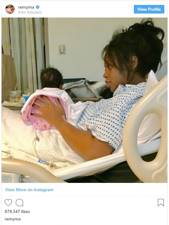 Remy Ma & baby daughter